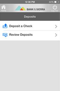 Deposit a Check
